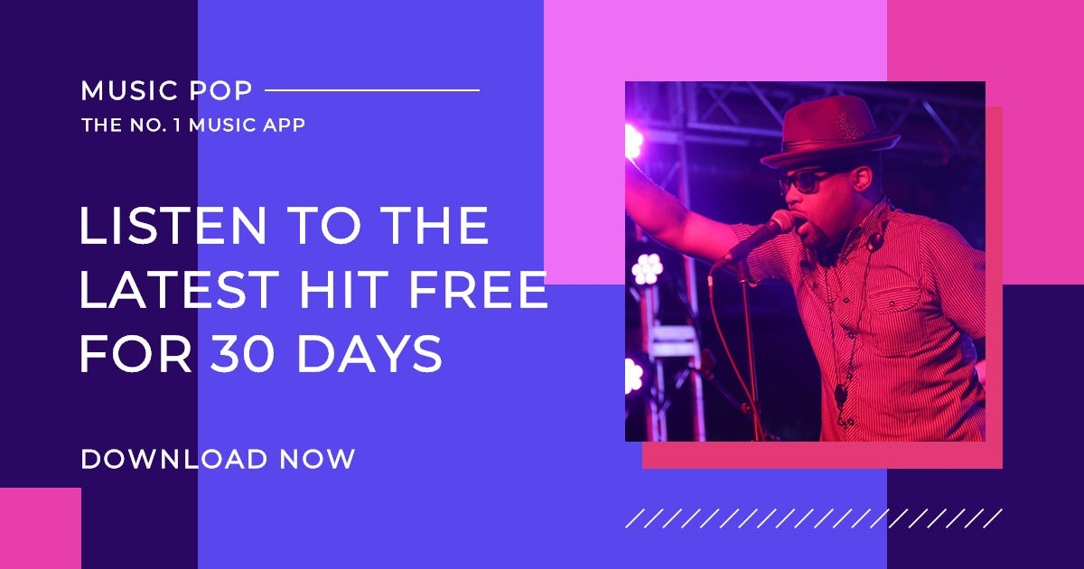 Music Studio App Promotion Facebook Post Template