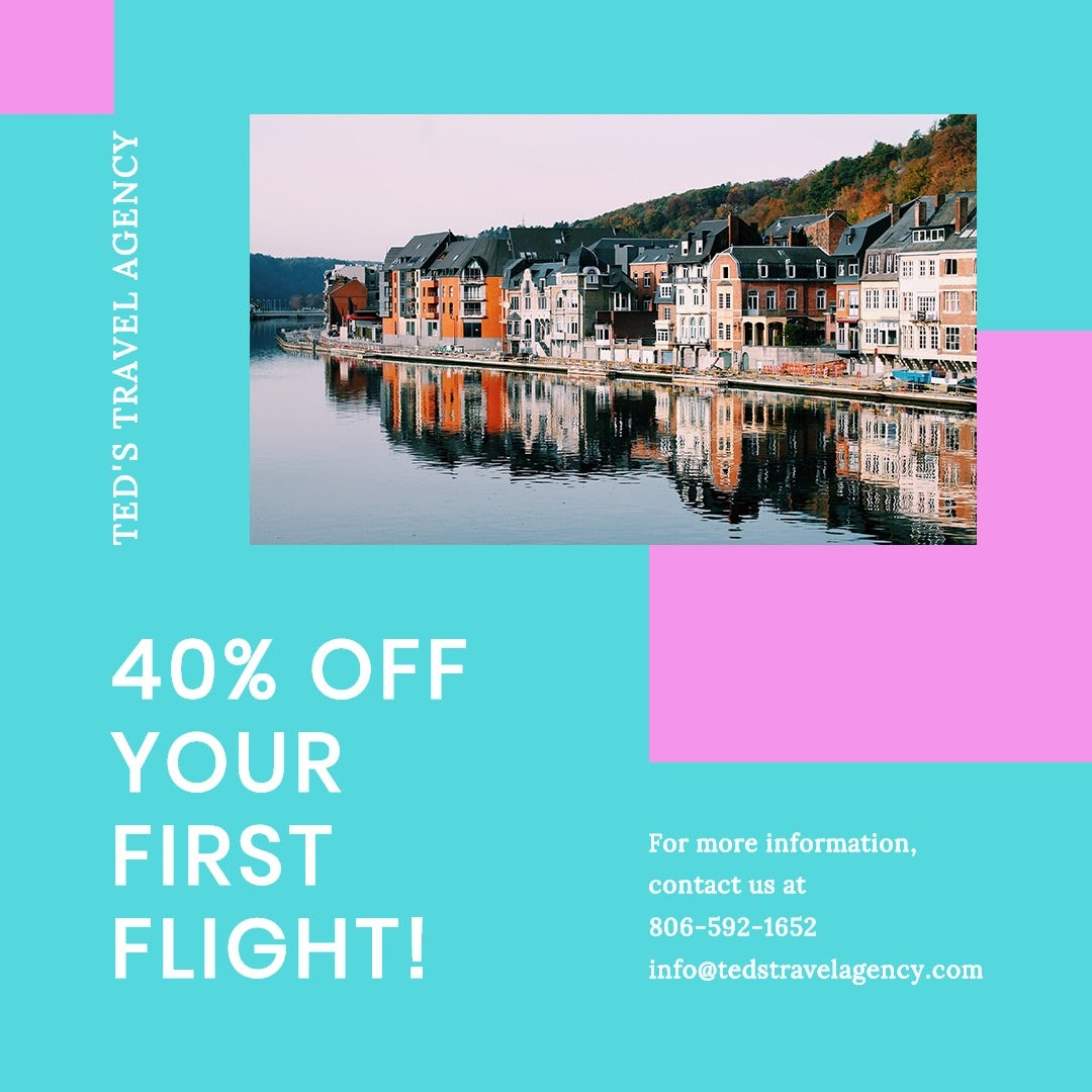 Airplane Travel Instagram Post Template