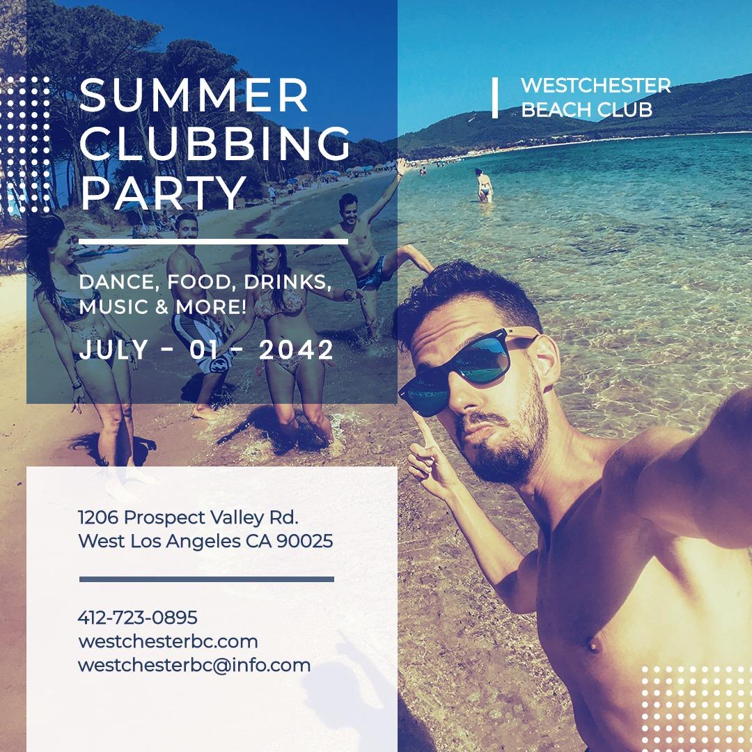 Summer Beach Club Instagram Post Template