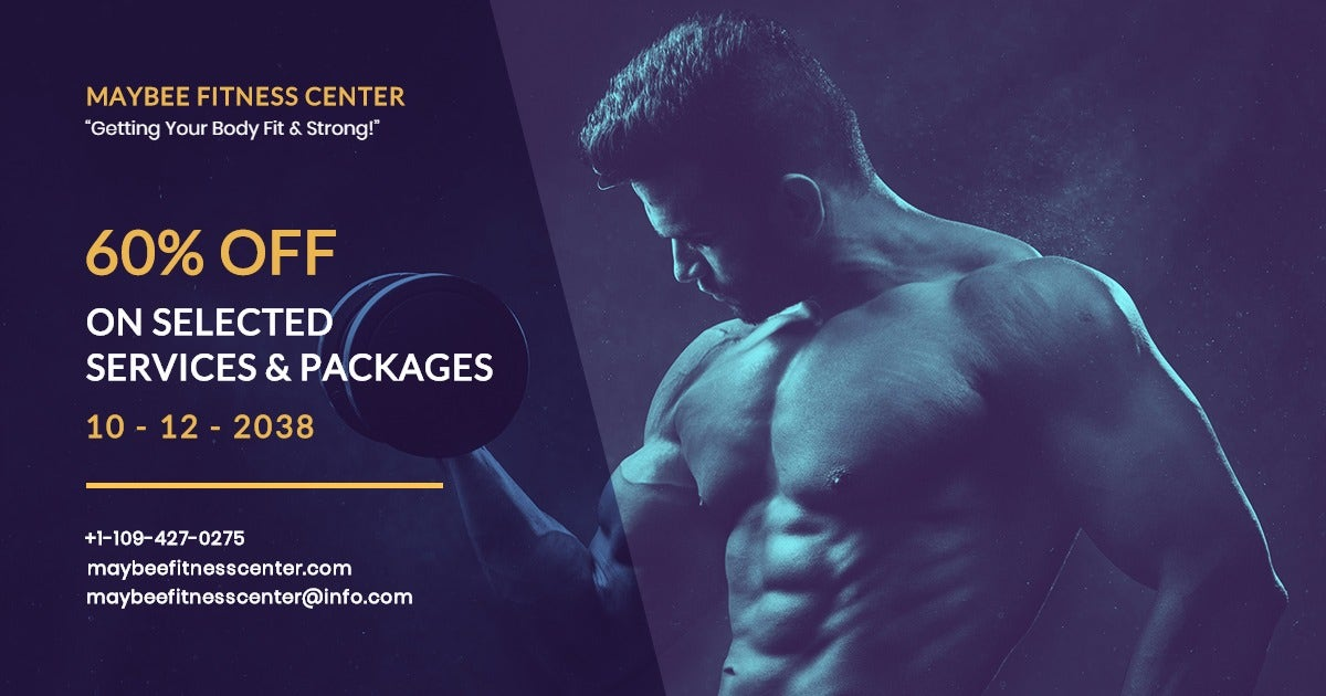Body Fitness Club Facebook Post Template