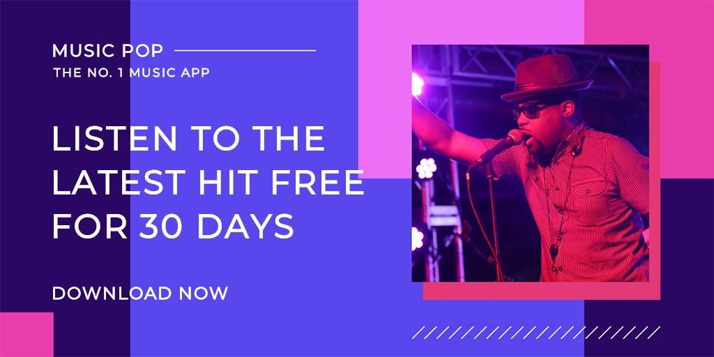 Music Studio App Promotion Twitter Post Template