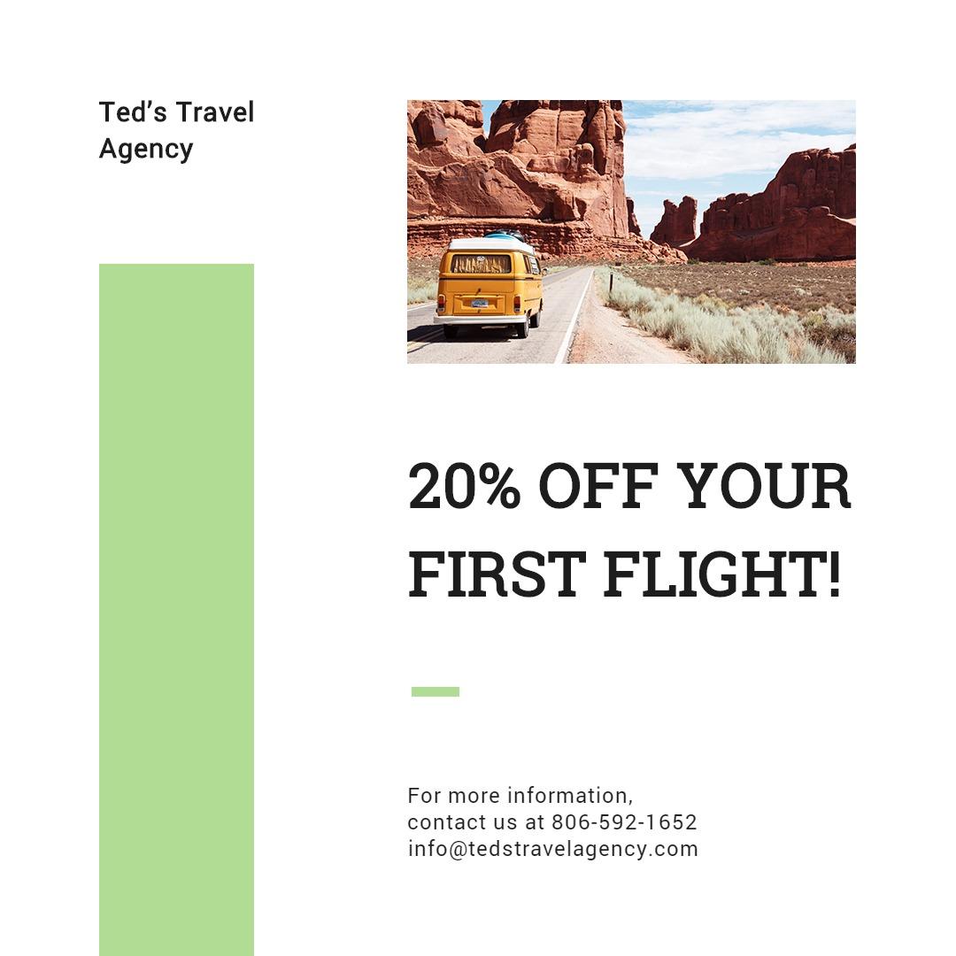 Travel Agency Instagram Post Template
