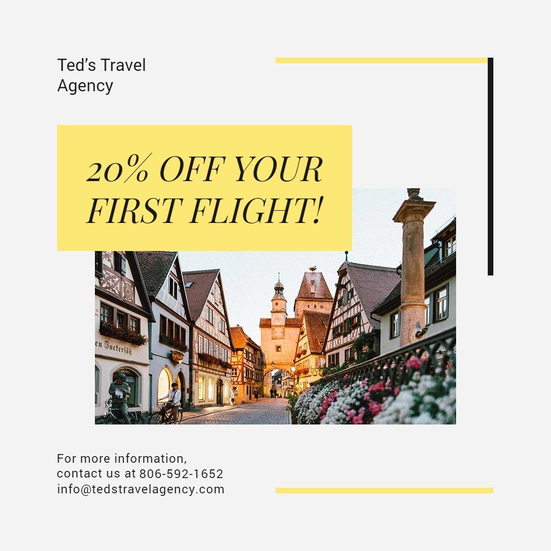 Travel & Tourism Instagram Post Template