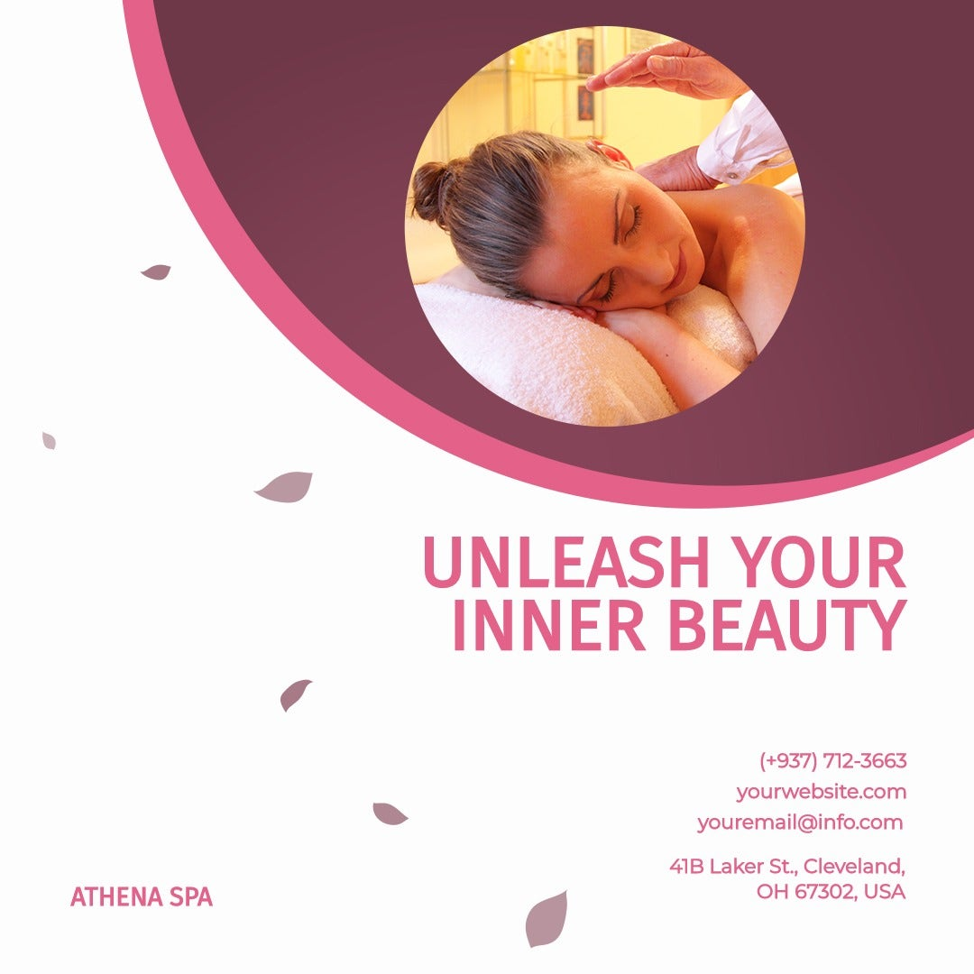Beauty Spa Instagram Post Template