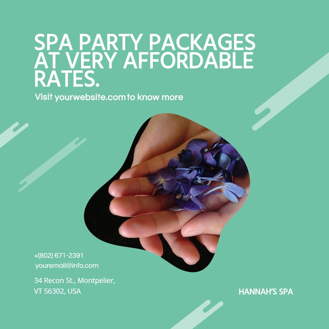 Spa Party Instagram Post Template