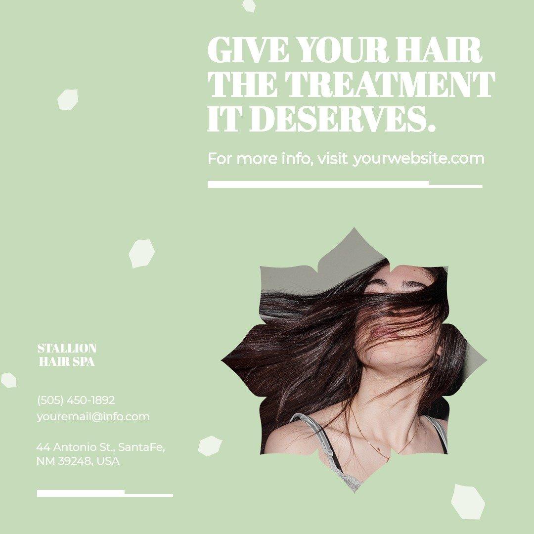 Hair Spa Instagram Post Template