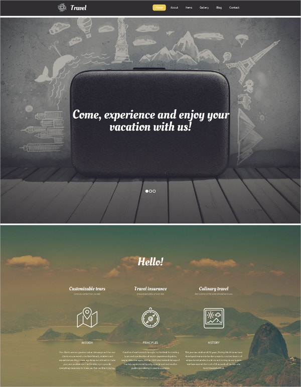 Travel Agency Responsive Moto CMS 3 Admin Template