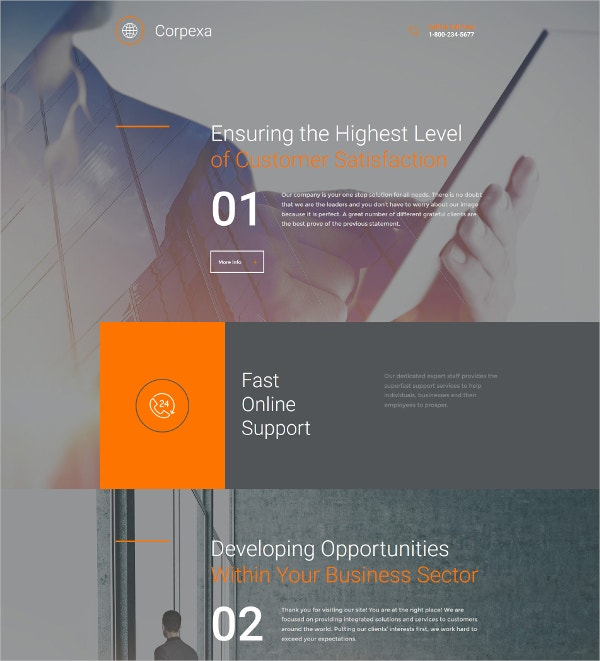Business Responsive Admin Moto CMS 3 Template