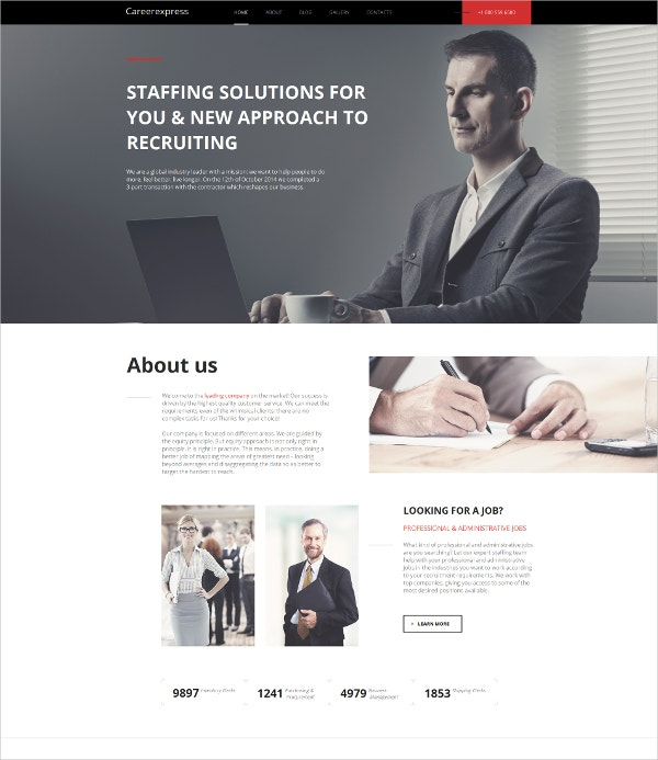 Career Education Admin Moto CMS HTML Template