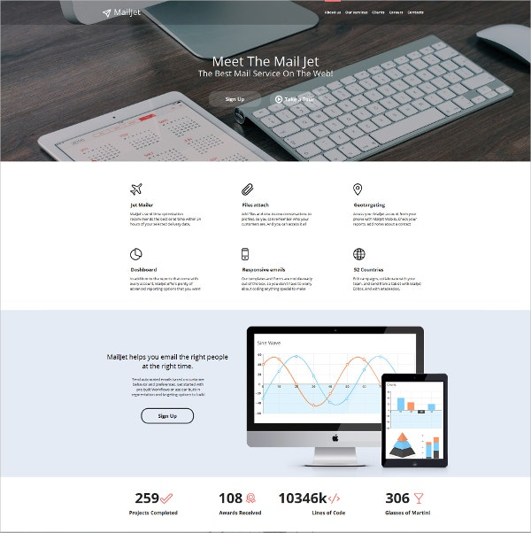 Email Services Admin Moto CMS HTML Template