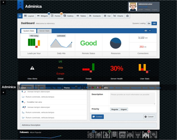 Professional Admin Template