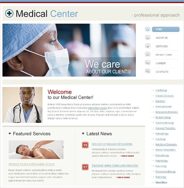 Medical Center Swish Template $35