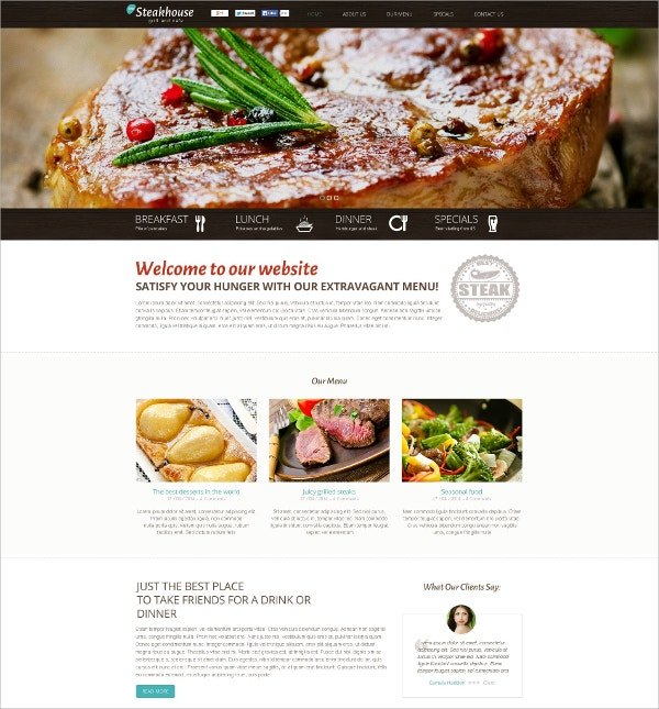taste food flash website template 59