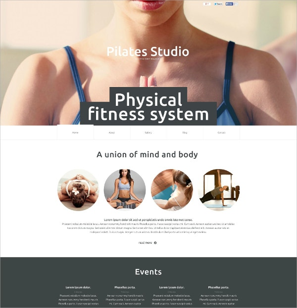 yoga physical fitness flash website template 59