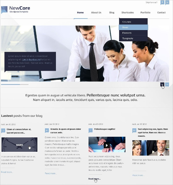corporate flash website template 17