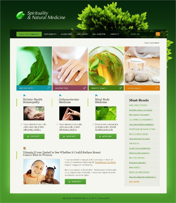 Herbal Medicine SwishTemplate $35