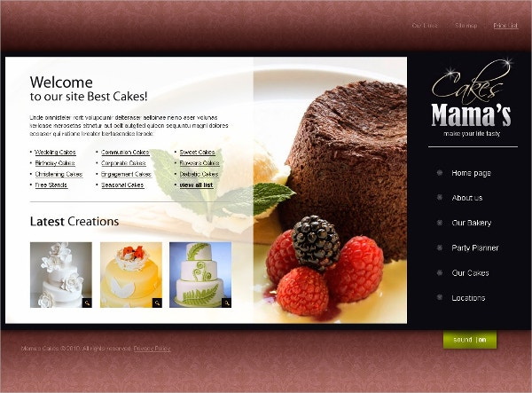Sweet Shop Swish Template $36