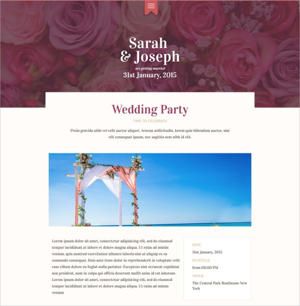 Unique Wedding Swish Template $17