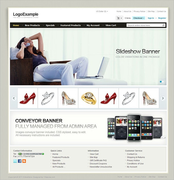 Simple eCommerce Zencart Theme