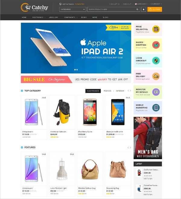 electronics multipurpose opencart theme 48