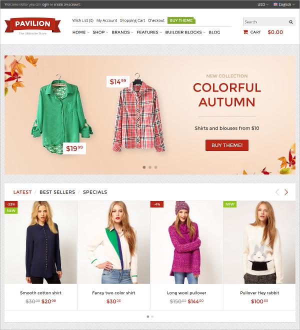 eCommerce Responsive OpenCart Theme $48