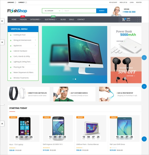 Powerful Multipurpose Opencart Theme $45