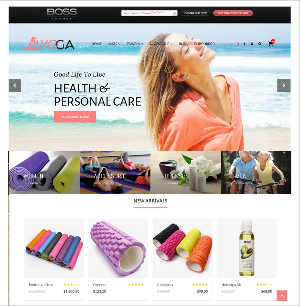 health personal care opencart theme 69