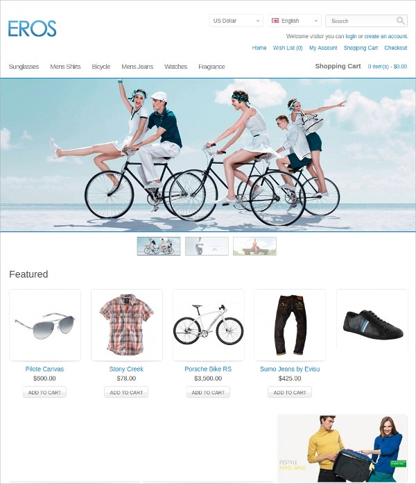 Clothes eCommerce Opencart Theme