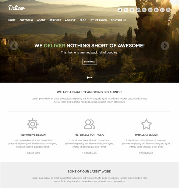 design responsive html css3 template 9