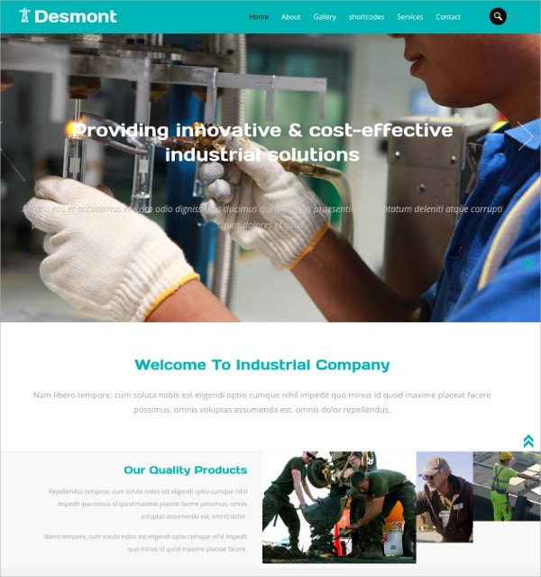 Industrial Bootstrap Responsive Css3 Template