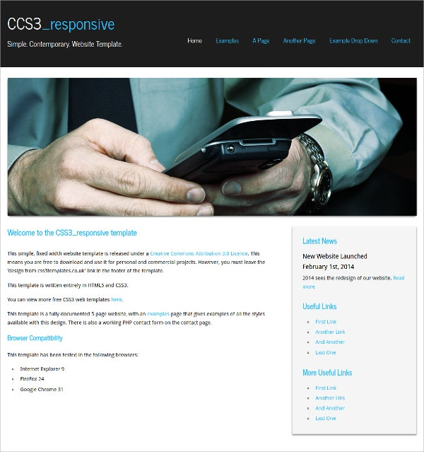 Free Business & Corporate Simple Css3 Theme