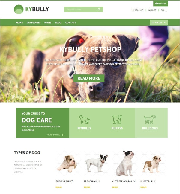 Pet Shop OSCommerce Theme $58