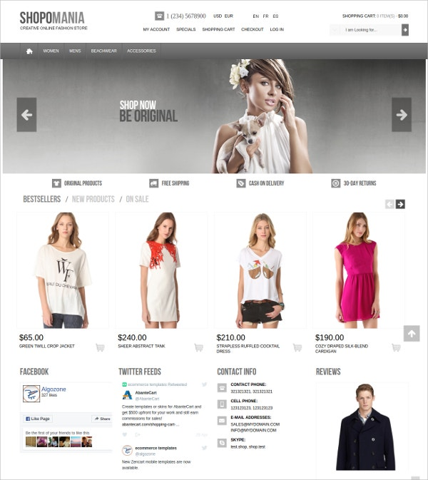 Clothes OSCommerce Theme For Women