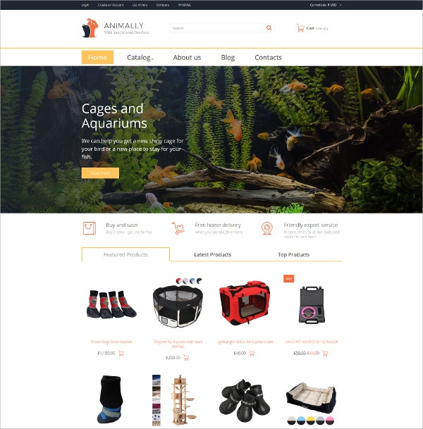 Animally eCommerce VirtueMart Template $83