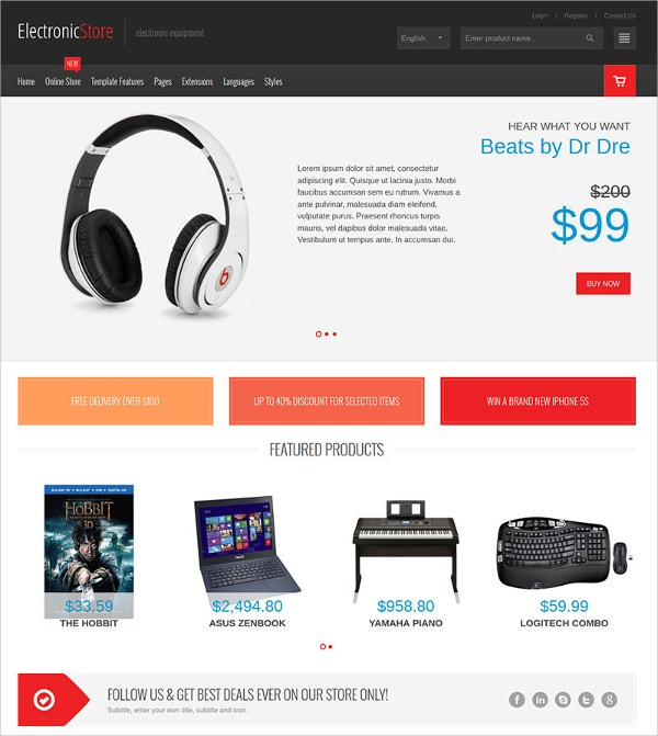 Multipurpose VirtueMart eCommerce Theme $48