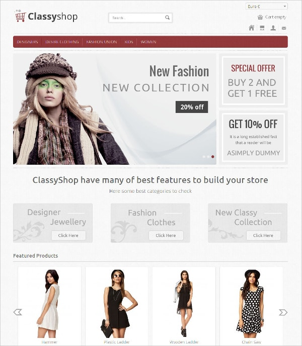 Design eCommerce VirtueMart Responsive Theme $53