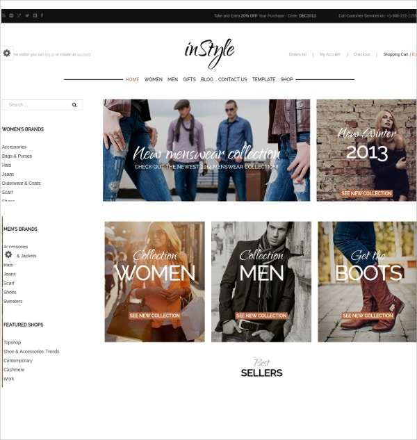 Stylish eCommerce VirtueMart Template