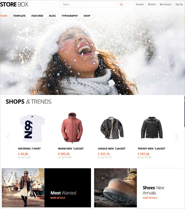 Modern Shopping eCommerce VirtueMart Template