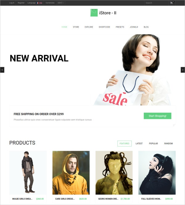 MultiPurpose eCommerce Virtuemart Template