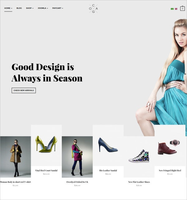 Design eCommerce Virtuemart Template
