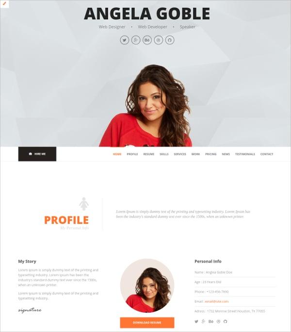 personal portfolio ajax php template 15
