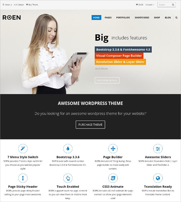 Awesome Multipurpose Ajax PHP WordPress Theme $55