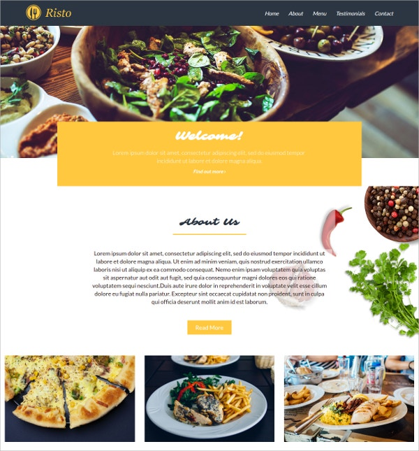 Restaurnat Ajax PHP Theme $5