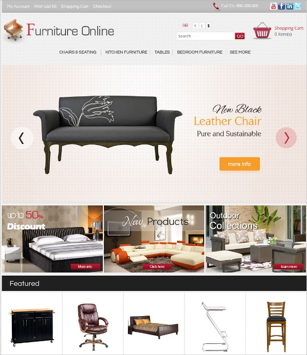 Online Furniture Algozone Opencart Template