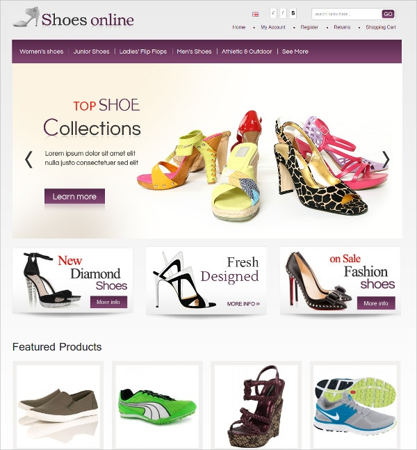 Shoes Online Algozone Opencart Theme