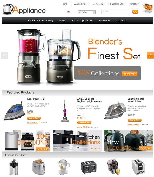 Appliances Algozone Opencart Theme