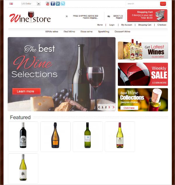 Wine Store Algozone Opencart Theme