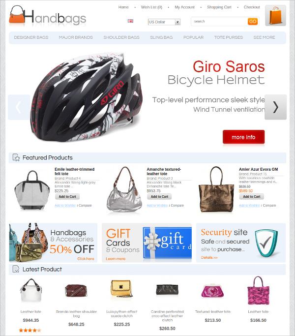 fashion hand bags algozone opencart theme