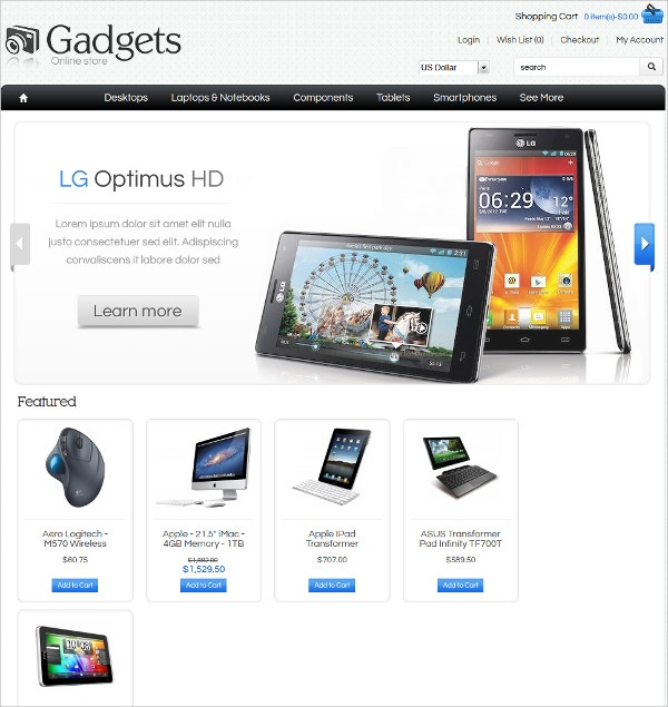 Online Gadgets Store Algozone Opencart Theme