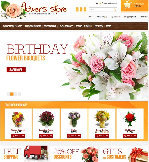 Flower Store Algozone Opencart Theme
